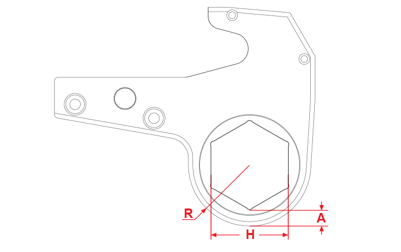 twh-series-hydraulic-torque-wrench-hexagon-drawing-1